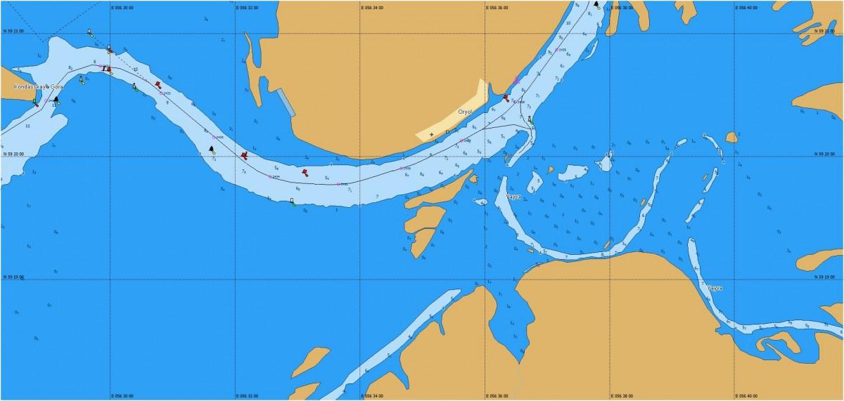 Карта глубин C-MAP MAX-N RS-N216: Кама, Вятка